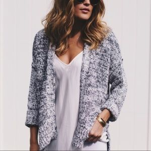 Lou and Grey speckled open cardigan